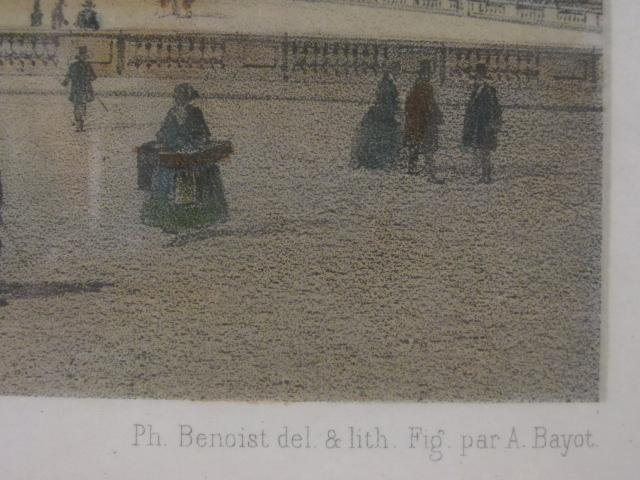 TWO FRENCH HAND COLORED LITHOGRAPHS BY FELIX BENOI - 6