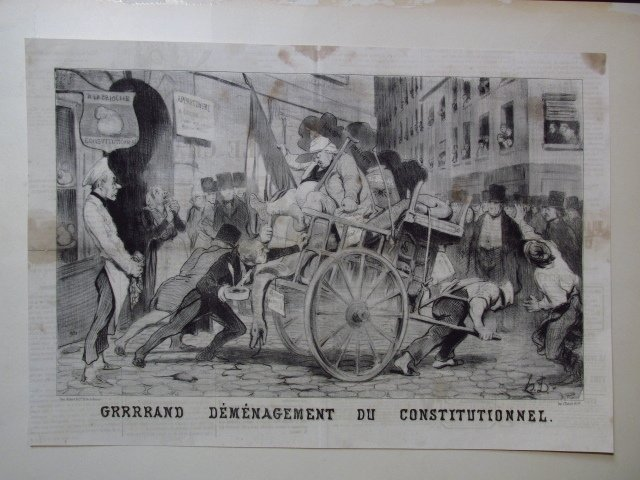 FIVE LARGE HONORE DAUMIER LITHOGRAPHS - 10