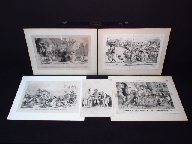 FIVE LARGE HONORE DAUMIER LITHOGRAPHS