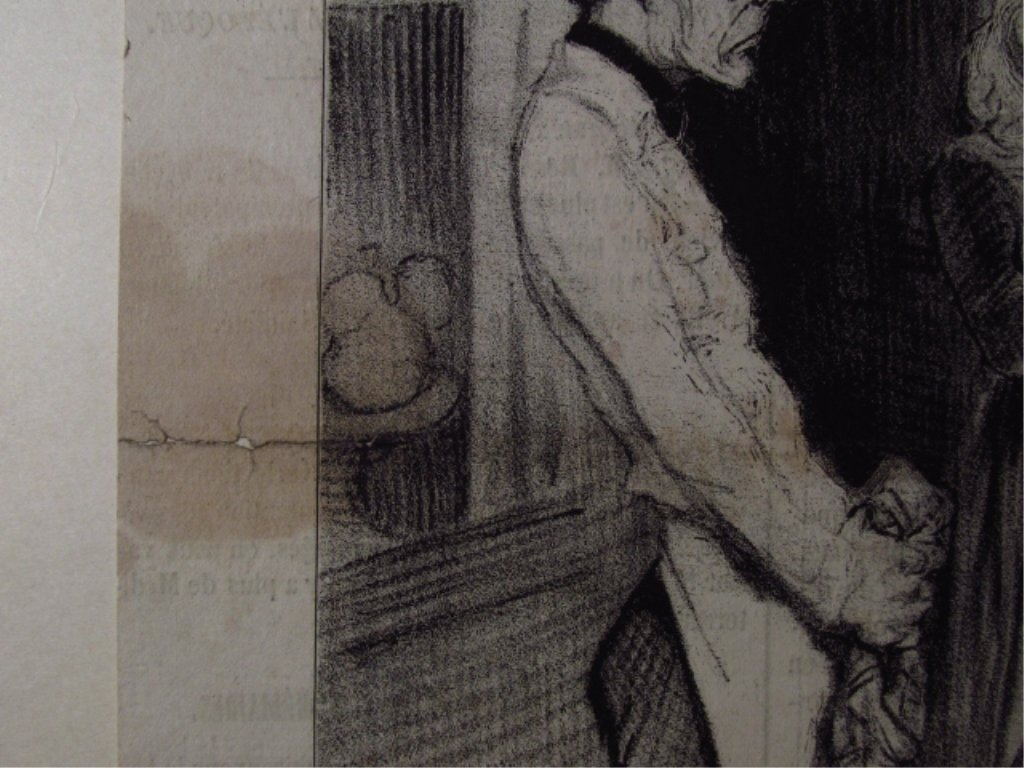FIVE LARGE HONORE DAUMIER LITHOGRAPHS - 2