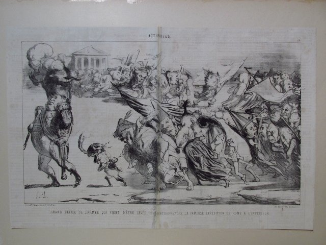 FIVE LARGE HONORE DAUMIER LITHOGRAPHS - 5