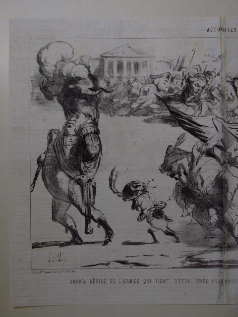 FIVE LARGE HONORE DAUMIER LITHOGRAPHS - 6