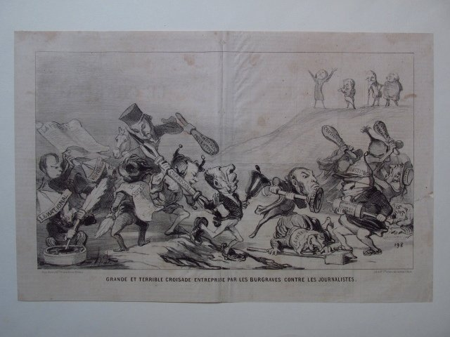 FIVE LARGE HONORE DAUMIER LITHOGRAPHS - 7