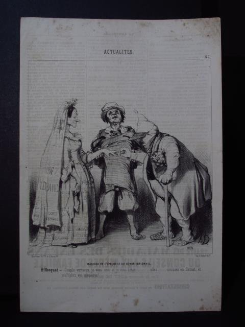 FIVE LARGE HONORE DAUMIER LITHOGRAPHS - 8