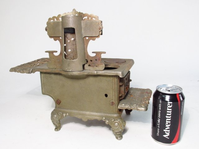 TWO EAGLE CAST IRON SALESMAN SAMPLE STOVES - 10