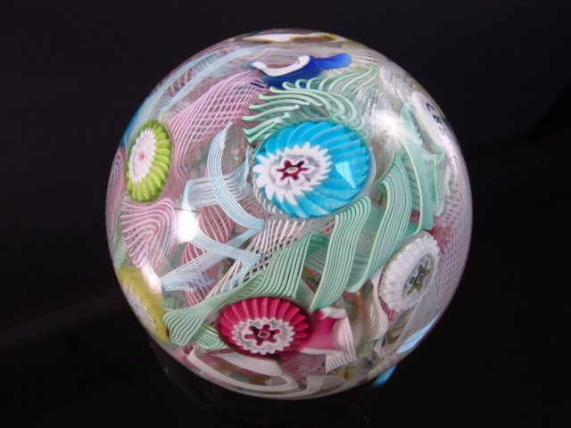 ANTIQUE SCRAMBLE PAPERWEIGHT - DATED 1887 - 5