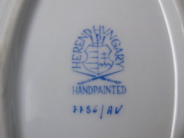 HEREND CHINESE BOUQUET (GREEN) DINNERWARE - 86 PCS - 10