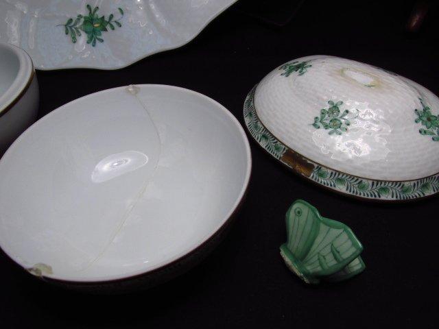 HEREND CHINESE BOUQUET (GREEN) DINNERWARE - 86 PCS - 9