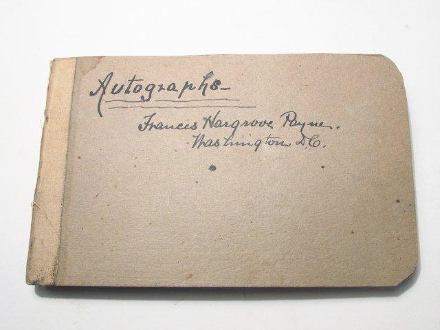 19th CENTURY COLLECTIBLE AUTOGRAPH BOOK