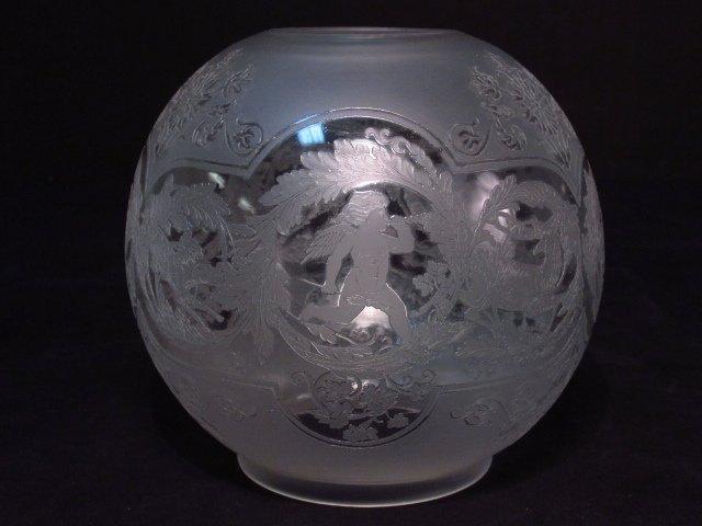 VICTORIAN PATINATED METAL FIGURAL BANQUET LAMP - 4