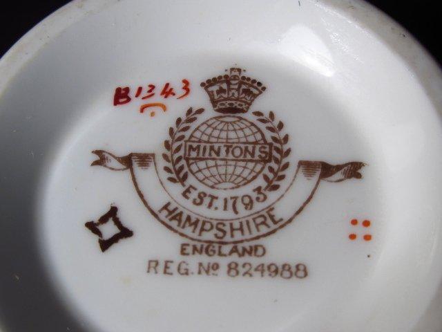 """MINTON """"HAMPSHIRE"""" PORCELAIN DINNERWARE: 56 PCS - 2"""