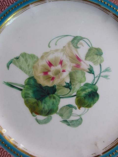 NINE EARLY ROYAL WORCESTER HAND PAINTED PLATES - 3