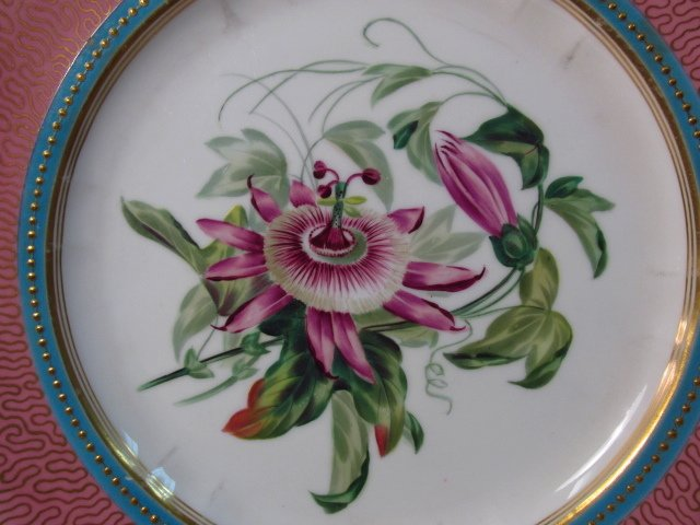 NINE EARLY ROYAL WORCESTER HAND PAINTED PLATES - 6