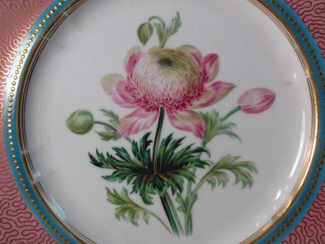 NINE EARLY ROYAL WORCESTER HAND PAINTED PLATES - 8