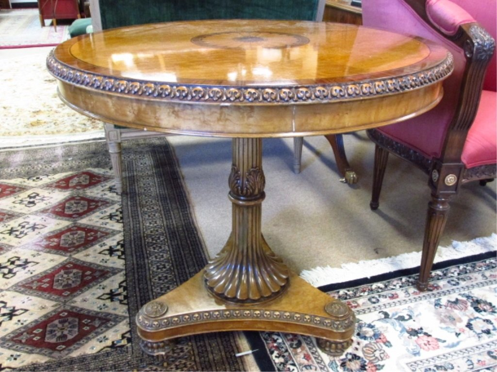 MARQUETRY INLAID CENTER OR OCCASIONAL TABLE