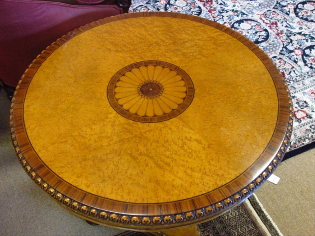 MARQUETRY INLAID CENTER OR OCCASIONAL TABLE - 2