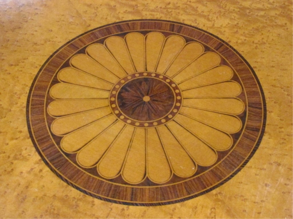 MARQUETRY INLAID CENTER OR OCCASIONAL TABLE - 3