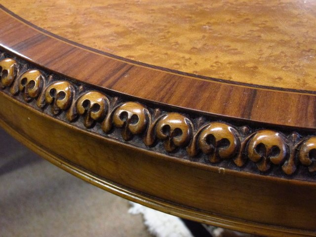 MARQUETRY INLAID CENTER OR OCCASIONAL TABLE - 4