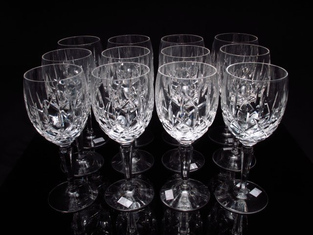 TWELVE WATERFORD STYLE CUT CRYSTAL STEMS