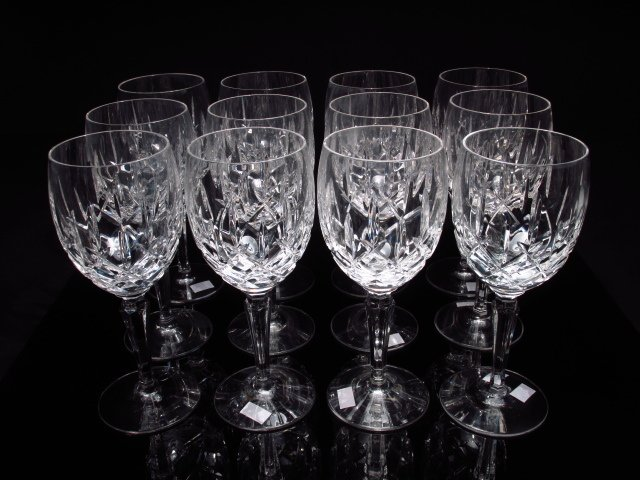 TWELVE WATERFORD STYLE CUT CRYSTAL STEMS - 2