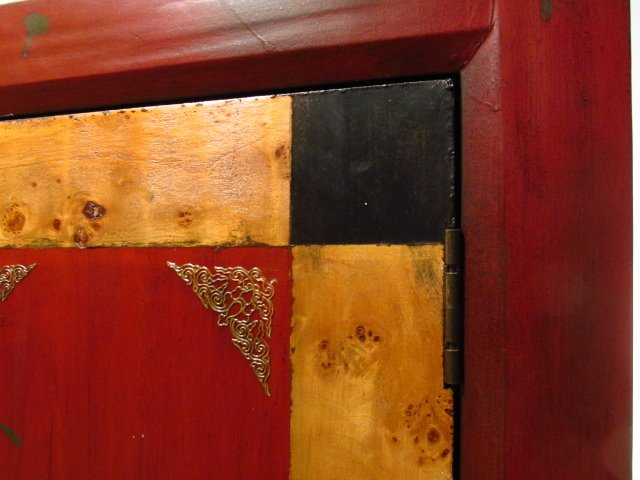 CONTEMPORARY BURLED WOOD CABINET - 2