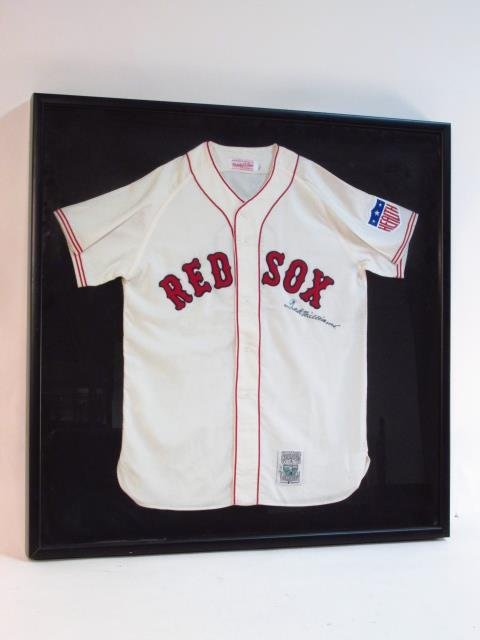 BOSTON RED SOX TED WILLIAMS AUTOGRAPHED JERSEY UDA