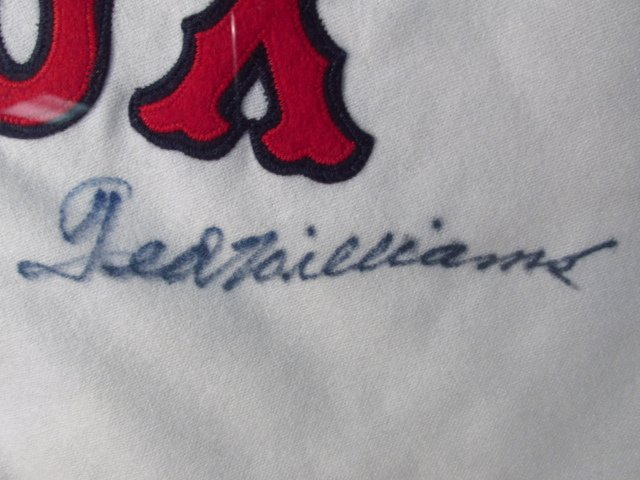 BOSTON RED SOX TED WILLIAMS AUTOGRAPHED JERSEY UDA - 4