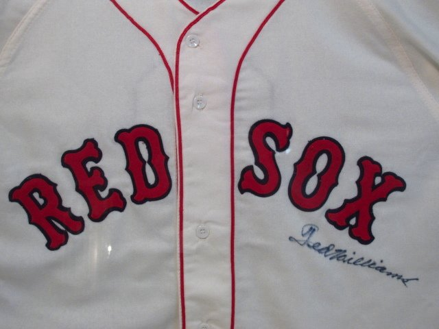 BOSTON RED SOX TED WILLIAMS AUTOGRAPHED JERSEY UDA - 6
