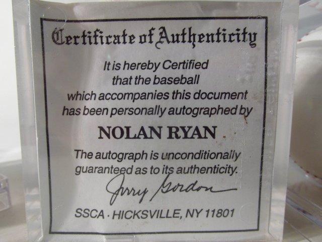FOUR MLB SIGNED BASEBALLS - NOLAN RYAN, BOB FELLER - 8