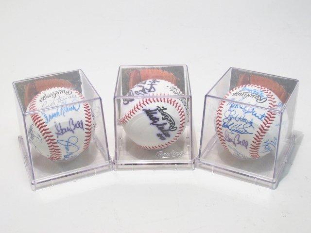 THREE MLB PLAYER SIGNED BASEBALLS