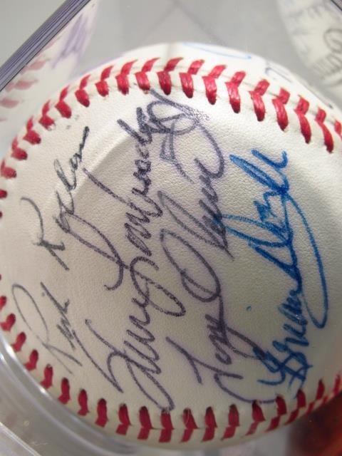 THREE MLB PLAYER SIGNED BASEBALLS - 4