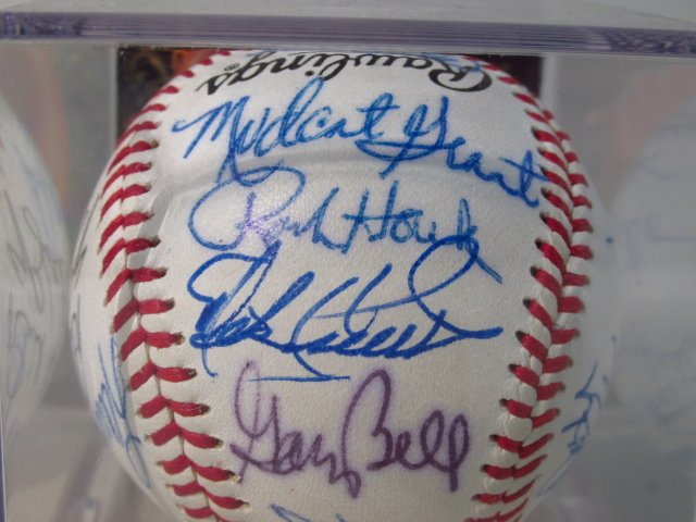 THREE MLB PLAYER SIGNED BASEBALLS - 7