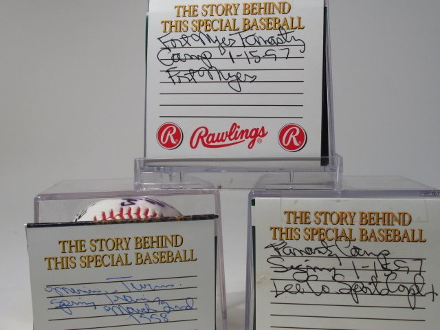 THREE MLB PLAYER SIGNED BASEBALLS - 9