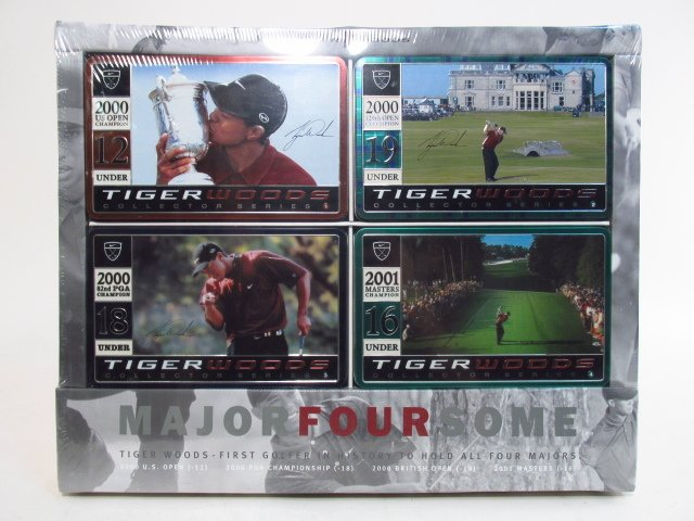 TIGER WOODS MAJOR FOUR SOME GOLF BALL SET