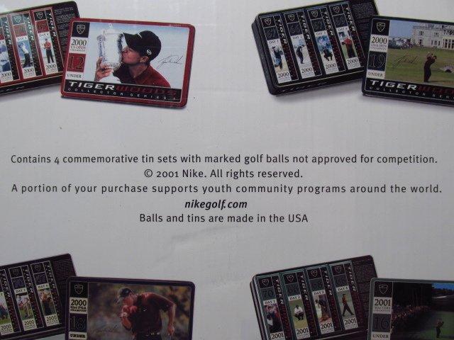 TIGER WOODS MAJOR FOUR SOME GOLF BALL SET - 3