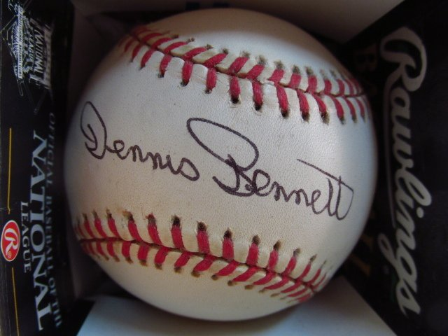 THREE SIGNED BASEBALLS: MO VAUGHN, DENNIS BENNETT, - 5
