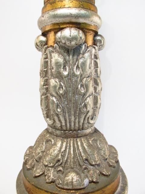 METALLIC FINISHED PILLAR FORM TABLE LAMP - 6