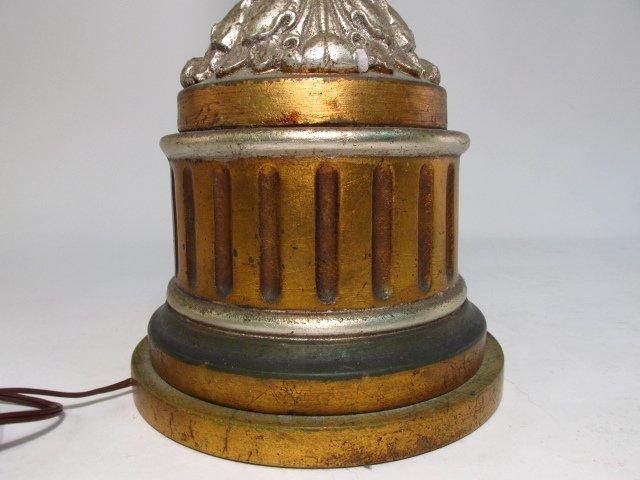 METALLIC FINISHED PILLAR FORM TABLE LAMP - 7