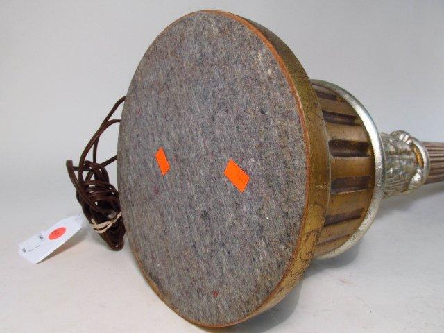 METALLIC FINISHED PILLAR FORM TABLE LAMP - 9