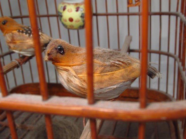VINTAGE CHINESE BAMBOO BIRDCAGE - 3