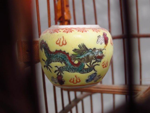 VINTAGE CHINESE BAMBOO BIRDCAGE - 7