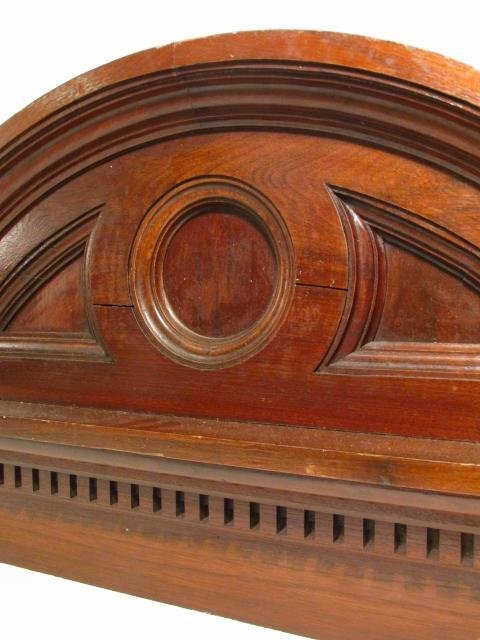 CARVED WALNUT ARCHED PEDIMENT - 6