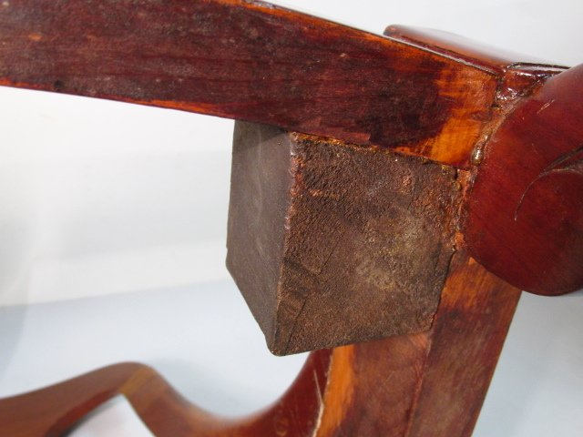 FOUR MID 19TH CENTURY CARVED WALNUT DINING CHAIRS - 10