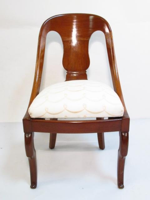 FOUR MID 19TH CENTURY CARVED WALNUT DINING CHAIRS - 3