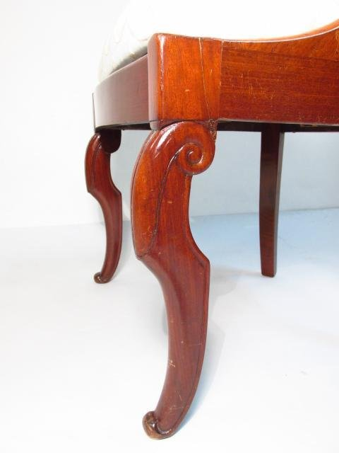 FOUR MID 19TH CENTURY CARVED WALNUT DINING CHAIRS - 5