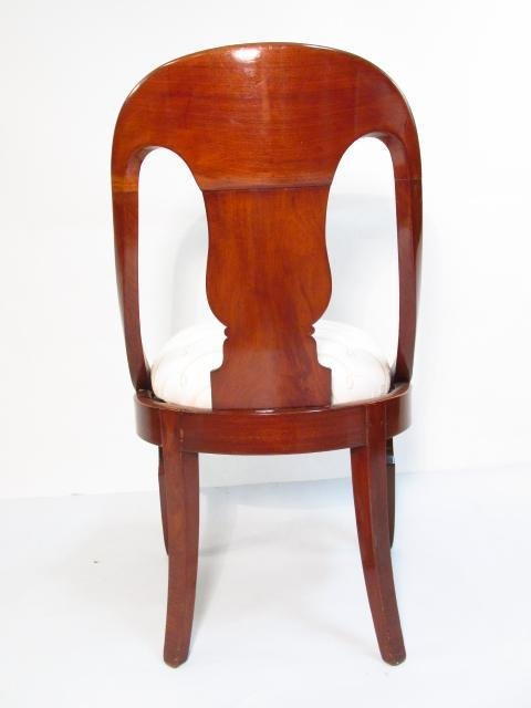 FOUR MID 19TH CENTURY CARVED WALNUT DINING CHAIRS - 6