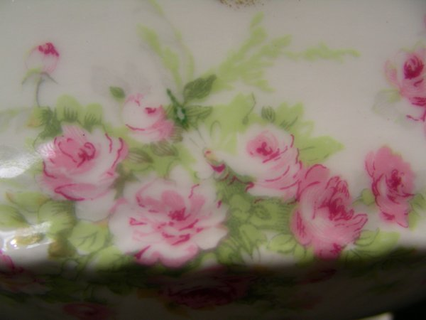 203: THEODORE HAVILAND LIMOGES FRANCE SOUP TUREEN ROSES - 3