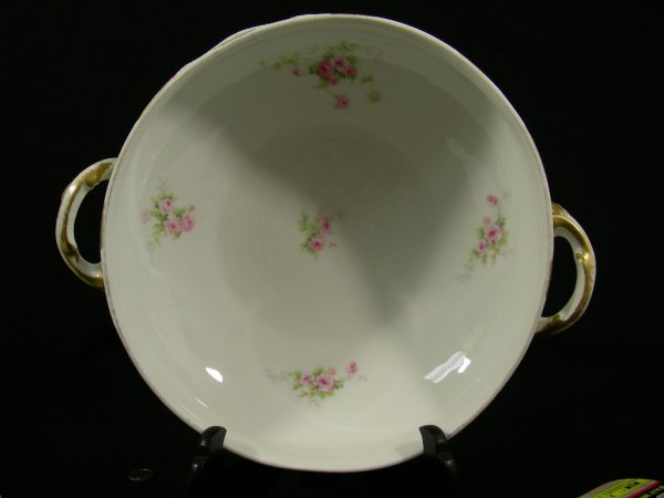 203: THEODORE HAVILAND LIMOGES FRANCE SOUP TUREEN ROSES - 5