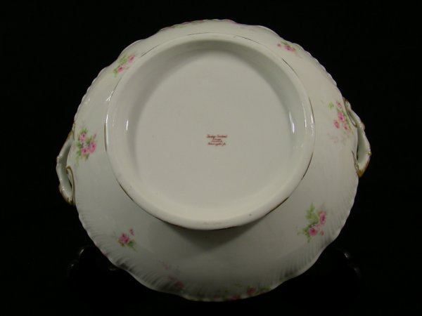 203: THEODORE HAVILAND LIMOGES FRANCE SOUP TUREEN ROSES - 6