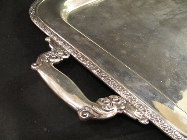 483: MANCHESTER STERLING SILVER TRAY COFFEE TEA SERVICE - 10